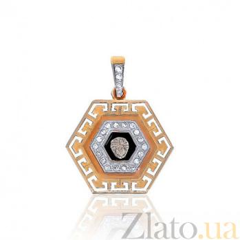 Золотой кулон Versace с фианитами EDM--П0204