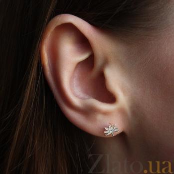 Серебряные серьги-пуссеты Diane HUF--2089