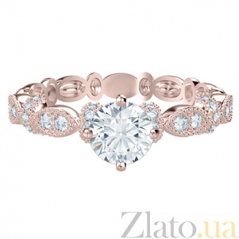 Кольцо из розового золота с бриллиантами Очарование   767