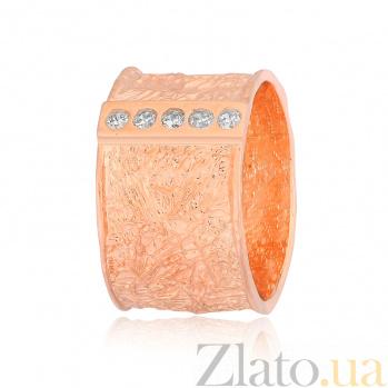 Позолоченное серебряное кольцо с цирконием Орсола 000028245