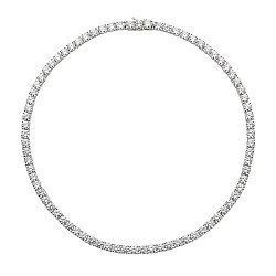 Серебряное колье с фианитами 000136618