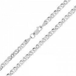 Серебряная цепь с родием, 5 мм 000026115