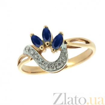 Золотое кольцо с сапфирами и бриллиантами Алиша ZMX--RS-6701_K