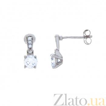 Серебряные серьги-гвоздики детские AQA--S225550330