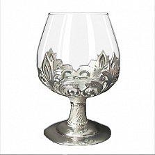Серебряный бокал Ариэль со стеклом, 160мл