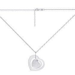 Серебряное колье с подвеской-сердцем 000147408