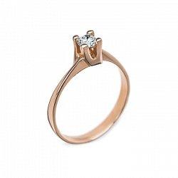 Кольцо в красном золоте Альхена с бриллиантом