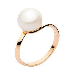 Кольцо из красного золота с жемчугом 000005989