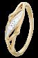Серебряное кольцо с фианитами Лавинья 000025578