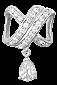 Серебряный подвес с фианитами Беатриса 000025282