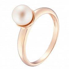 Золотое кольцо Восхождение с белым жемчугом