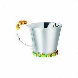 Серебряная чашка Белочка с эмалью 000043511