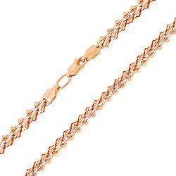 Золотая цепь в комбинированном цвете с перфорированными элементами 000136984