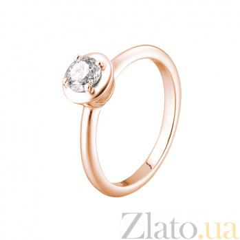 Кольцо в красном золоте Erma с бриллиантом 000079297