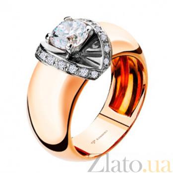 Золотое кольцо с бриллиантами Рассвет KBL--К1554/комб/брил