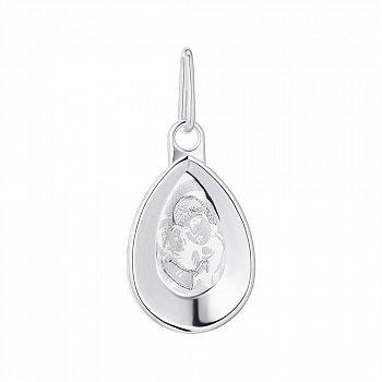 Серебряная ладанка Божья Матерь с младенцем 000134525