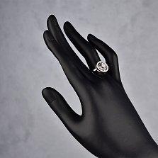 Серебряное кольцо Лаччи с белыми фианитами в стиле Булгари