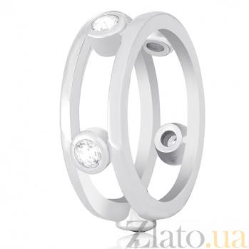 Серебряное кольцо Аморелли с фианитами 000030921