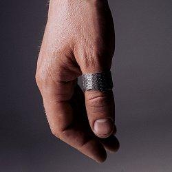 Каблучка із срібла Squama з чорнінням 000091446