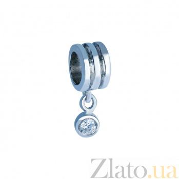 Серебряная бусина с фианитом Блеск AQA--2B1530011/5