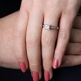Серебряное кольцо Адрис с фианитами