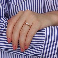 Золотое кольцо с цирконием Синди