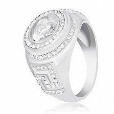 Серебряное кольцо Риволи с фианитами