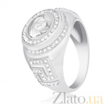 Серебряное кольцо Риволи с фианитами 000030924