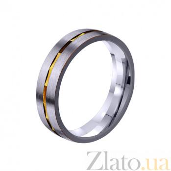 Золотое обручальное кольцо Половинка сердца TRF--4411372