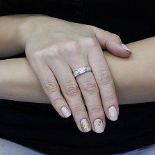 Серебряное кольцо Саяна с фианитами