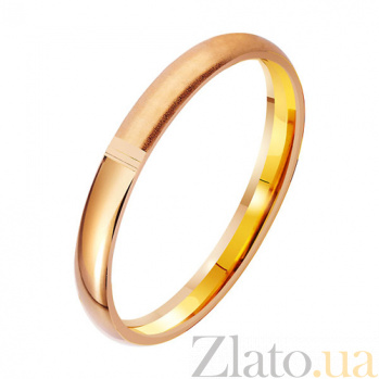 Золотое обручальное кольцо Скрепление судеб TRF--411978