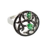 Серебряное кольцо с цирконием Ведана