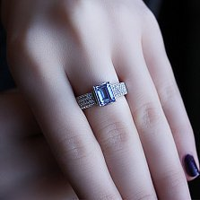 Серебряное кольцо с кварцем Аурелия