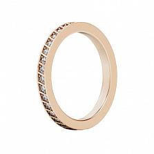 Обручальное кольцо из розового золота с бриллиантами Чистый родник