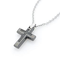 Колье Zancan Уверенность с крестом и черной шпинелью