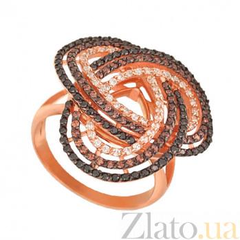 Кольцо из красного золота Фейерверк с фианитами VLT--ТТ1010-2