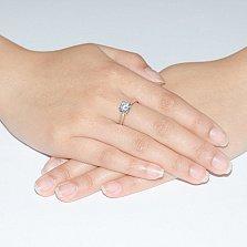 Золотое кольцо Анже с фианитами