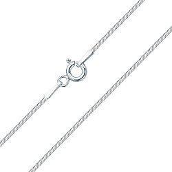 Серебряная цепочка в плетении снейк, 1мм, 000133596
