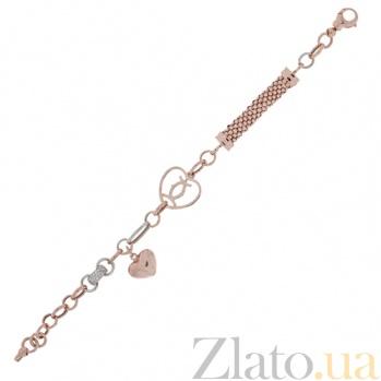 Золотой браслет с фианитами Виржини 000023878