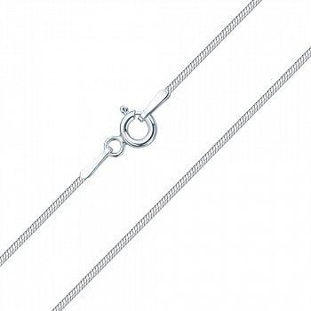 Срібнаий ланцюжок в плетінні снейк 000133596