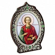 Икона латунная с образом  Святого Пантелеймона