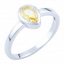 Серебряное кольцо Лаванья с цитрином
