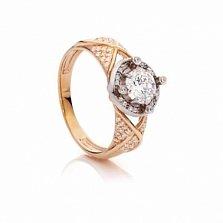 Золотое кольцо с цирконием Мэрилин