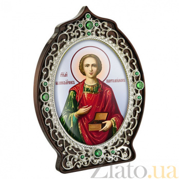 Икона латунная с образом  Святого Пантелеймона 2.78.0916л