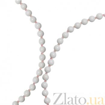 Ожерелье из белого оникса Авалайн 000030675