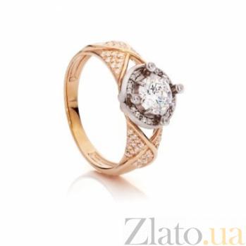 Золотое кольцо с цирконием Мэрилин 000030598