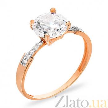 Золотое кольцо с фианитами Кеннеди SUF--153138