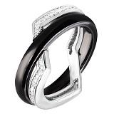Кольцо из керамики и серебра Лаура