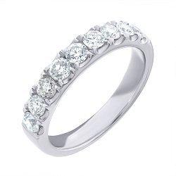 Кольцо из белого золота с бриллиантами 000139521