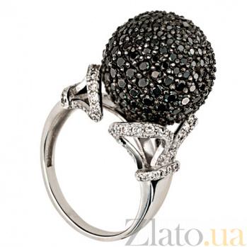 Кольцо из белого золота с черными фианитами Деспина VLT--ТТ129-1/бел